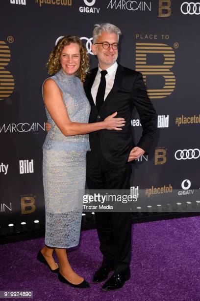 Dominic Raacke and his girlfriend Alexandra Rohleder attend the PLACE TO B Party on February 17 2018 in Berlin Germany