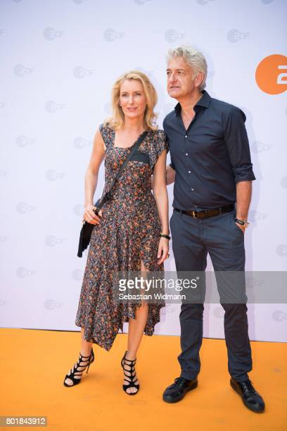 Dominic Raacke and Maria Furtwaengler arrrive at the ZDF reception during the Munich Film Festival at Hugo's on June 27 2017 in Munich Germany