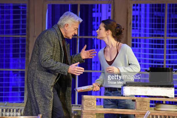 "Dominic Raacke, Henriette Richter-Roehl during the press rehearsal of the play 'Skylight"" at Schiller Theater on November 28, 2019 in Berlin, Germany."