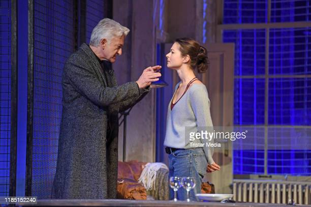 Dominic Raacke Henriette RichterRoehl during the press rehearsal of the play 'Skylight at Schiller Theater on November 28 2019 in Berlin Germany