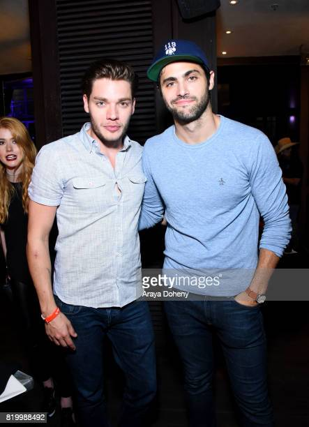 Dominic Sherwood and Matthew Daddario at the FANDOM Party during ComicCon International 2017 at Hard Rock Hotel San Diego on July 20 2017 in San...
