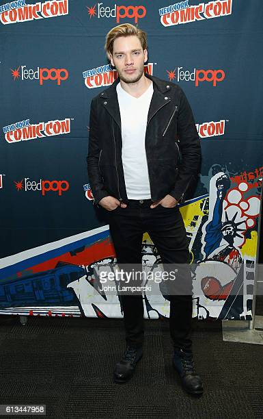 Dominic Sherwood attends Shadowhunters press conference during the 2016 New York Comic Con day 3 on October 8 2016 in New York City
