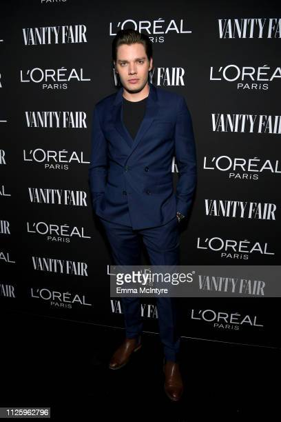 Dominic Sherwood is seen as Vanity Fair and L'Oréal Paris Celebrate New Hollywood on February 19 2019 in Los Angeles California