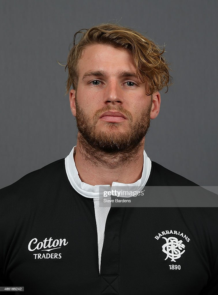 Dominic Shipperley of the Barbarians poses for a portrait during the Barbarians photocall at the Westbury Hotel on August 25, 2015 in London, England.