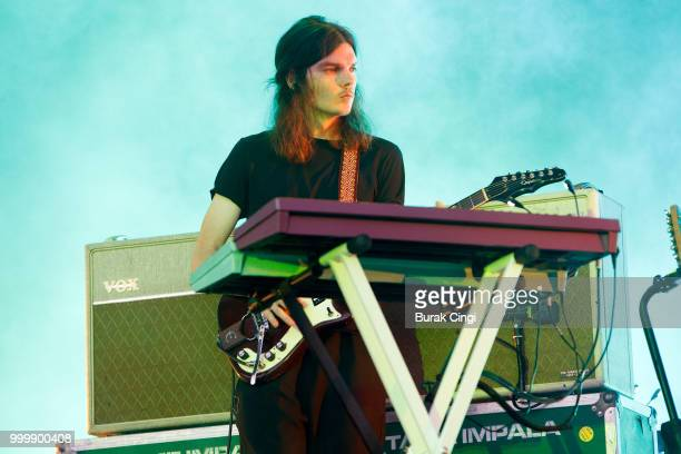 Dominic Simper of Tame Impala performs at Citadel festival at Gunnersbury Park on July 15 2018 in London England