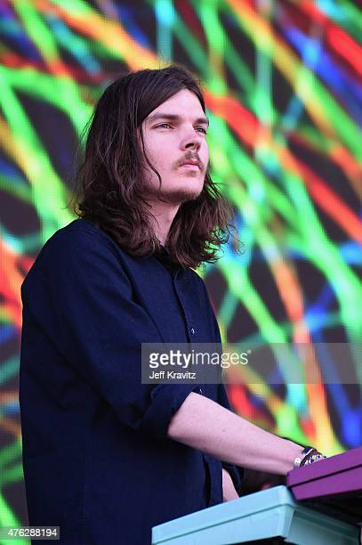 Dominic Simper of Tame Impala performs during the 2015 Governors Ball Music Festival at Randall's Island on June 7 2015 in New York City