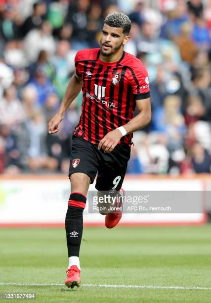 Dominic Solanke of Bournemouth during the Carabao Cup 1st Round match between AFC Bournemouth and MK Dons at Vitality Stadium on July 31, 2021 in...
