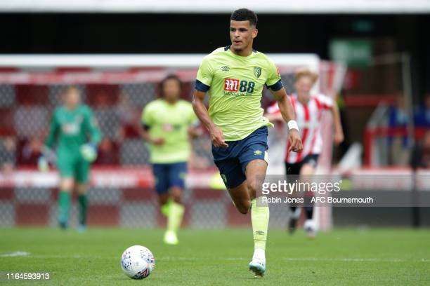 Dominic Solanke of Bournemouth during the Pre-Season Friendly match between Brentford and AFC Bournemouth at Griffin Park on July 27, 2019 in...