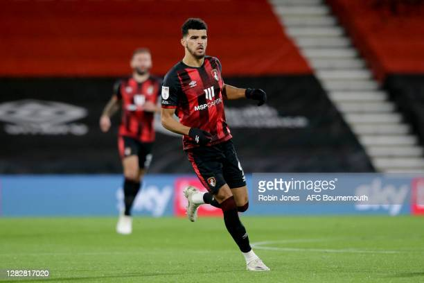 Dominic Solanke of Bournemouth during the Sky Bet Championship match between AFC Bournemouth and Bristol City at Vitality Stadium on October 28 2020...