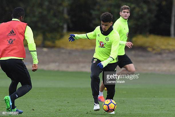 Dominic Solanke of Chelsea during a training session at Chelsea Training Ground on November 4 2016 in Cobham England