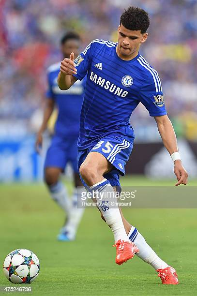 Dominic Solanke of Chelsea FC runs with the ball during the international friendly match between Thailand AllStars and Chelsea FC at Rajamangala...