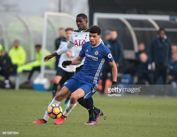 Dominic Solanke of Chelsea Under 23s during Premier League 2 match between Tottenham Hotspur Under 23s against Chelsea Under 23s at Tottenham Hotspur...