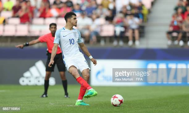 Dominic Solanke of England scores their third goal during the FIFA U20 World Cup Korea Republic 2017 group A match between Argentina and England at...