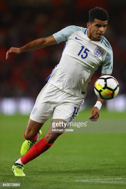 Dominic Solanke of England U21's during the UEFA Under 21 Championship Qualifier match between England and Latvia at the Vitality Stadium on...