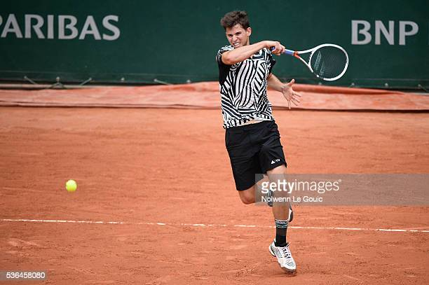 Dominic Thiem during the day eleven of the French Open 2016 at Roland Garros on June 1 2016 in Paris France
