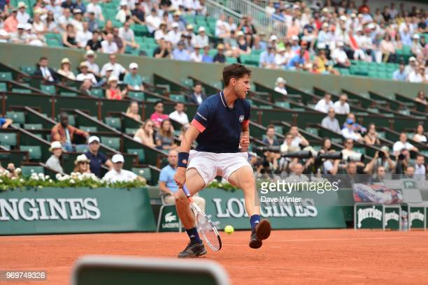 Dominic Thiem of Austria during Day 13 of the French Open 2018 on June 8 2018 in Paris France