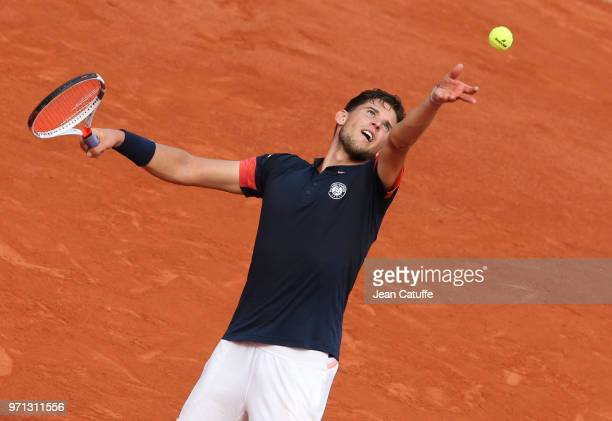 Dominic Thiem of Austria during the men's final on Day 15 of the 2018 French Open at Roland Garros stadium on June 10 2018 in Paris France
