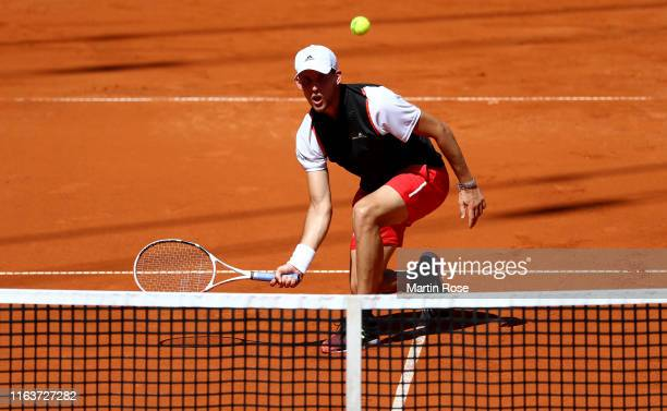Dominic Thiem of Austria in action against Pablo Cuevas of Uruguay during day two of the Hamburg Open 2019 at Rothenbaum on July 23 2019 in Hamburg...