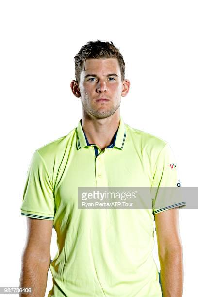 Dominic Thiem of Austria poses for portraits during the Australian Open at Melbourne Park on January 13 2018 in Melbourne Australia