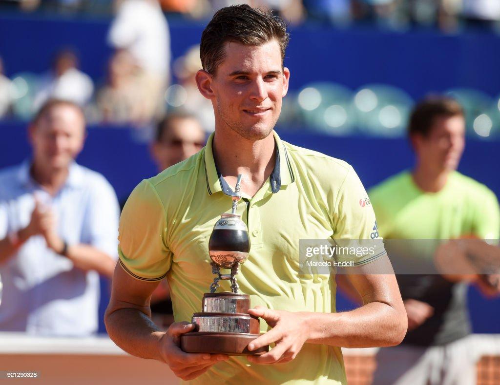 Dominic Thiem v Aljaz Bedene - ATP Argentina Open Final : News Photo