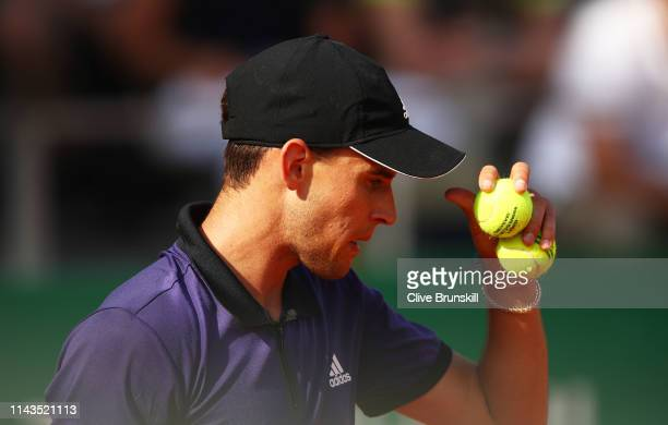 Dominic Thiem of Austria shows his dejection during his straight set defeat against Dusan Lajovic of Serbia in their third round match during day...