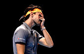 dominic thiem reacts during singles final