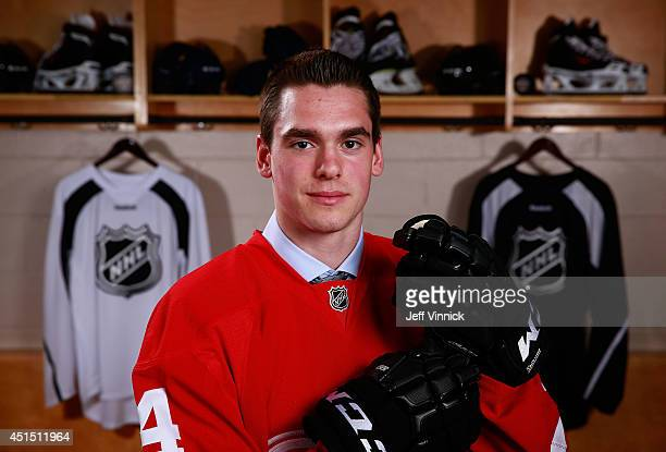 Dominic Turgeon 63rd overall pick of the Detroit Red Wings poses for a portrait during the 2014 NHL Entry Draft at Wells Fargo Center on June 28 2014...