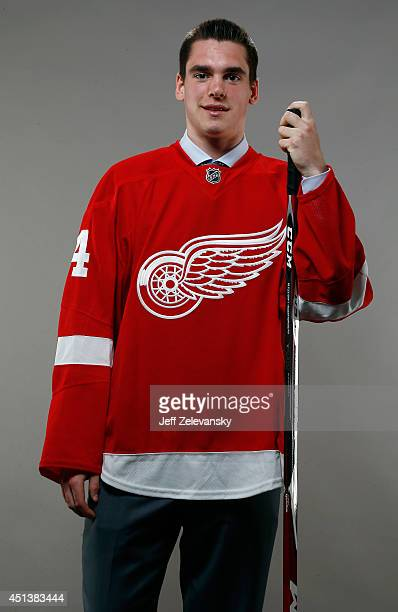 Dominic Turgeon of the Detroit Red Wings poses for a portrait during the 2014 NHL Draft at the Wells Fargo Center on June 28 2014 in Philadelphia...