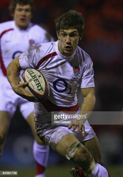 Dominic Waldouck of England Saxons during the International Friendly match between England Saxons and Portugal at Edgeley Park on January 30, 2009 in...