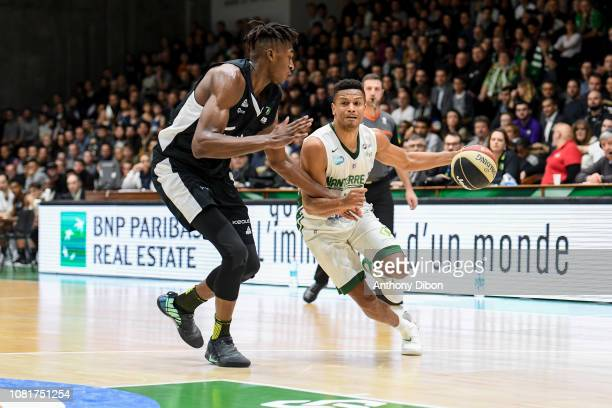 Dominic Waters of Nanterre and Alpha Kaba of Asvel during the Jeep Elite match between Nanterre and Lyon Villeurbanne on January 12 2019 in Nanterre...
