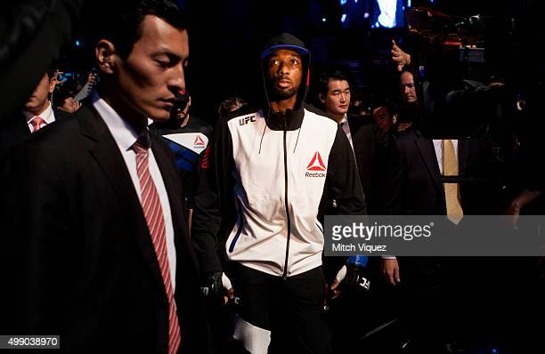 Dominic Waters of the United States of America before his welterweight bout against Dong Hyun Kim of South Korea during the UFC Fight Night at the...