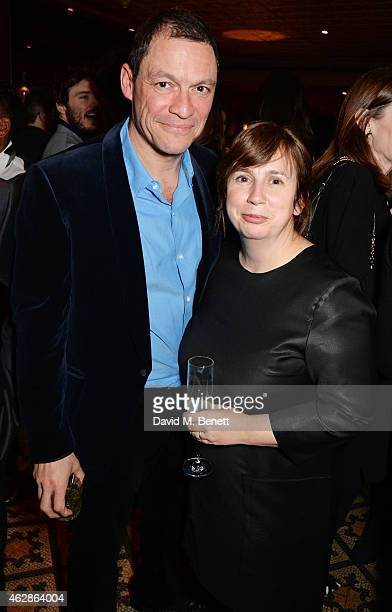 Dominic West and Abi Morgan attend Harvey Weinstein's BAFTA Dinner in partnership with Burberry GREY GOOSE at Little House Mayfair on February 6 2015...