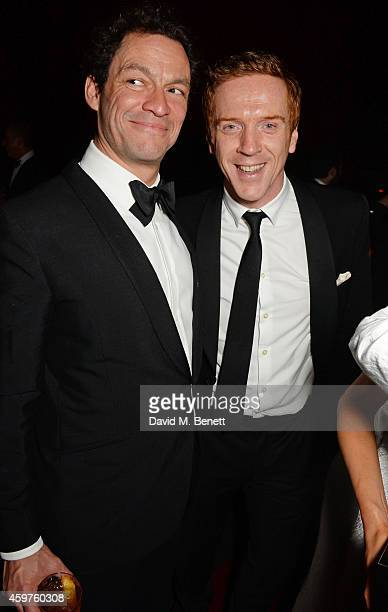 Dominic West and Damian Lewis attend an after party following the 60th London Evening Standard Theatre Awards at the London Palladium on November 30...