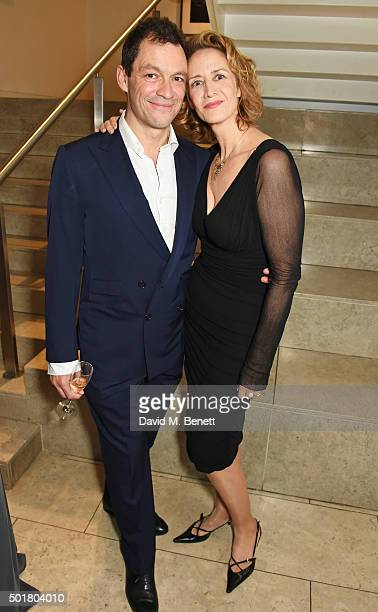 Dominic West and Janet McTeer attend an after party following the press night performance of the Donmar's Les Liaisons Dangereuses at The Hospital...