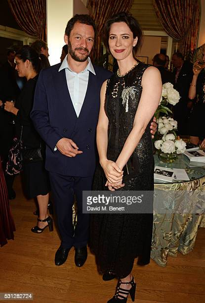 Dominic West and Rebecca Hall attend The 8th Annual Filmmakers Dinner hosted by Charles Finch and JaegerLeCoultre at Hotel du CapEden Roc on May 13...