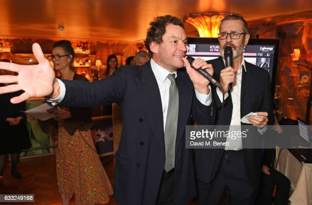 Dominic West and Rupert Everett lead the auction during the Farms Not Factories #TurnYourNoseUp at Pig Factories benefit dinner 'Upstairs' at 5...