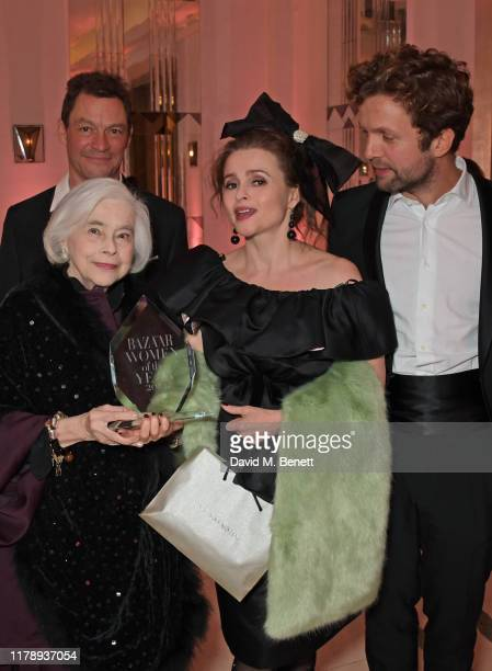Dominic West Elena Propper de Callejon Helena Bonham Carter and Rye Dag Holmboe attend the Harper's Bazaar Women of the Year Awards 2019 in...