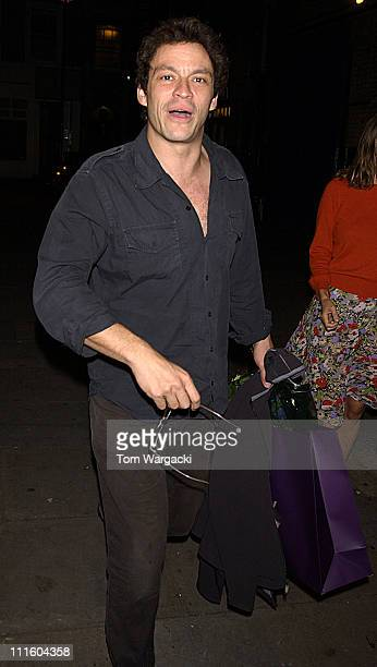 Dominic West leaving Wyndams theatre after his performance in 'As You Like It'
