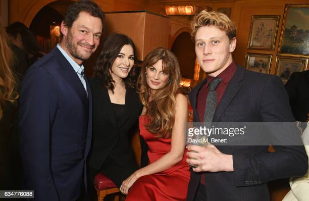 Dominic West Nigella Lawson Jemima Khan and George MacKay attend a pre BAFTA party hosted by Charles Finch and Chanel at Annabel's on February 11...