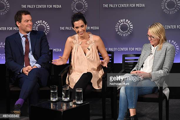 Dominic West Sarah Treem and Sara Vilkomerson attend the third annual PaleyFest NY at The Paley Center for Media on October 12 2015 in New York City
