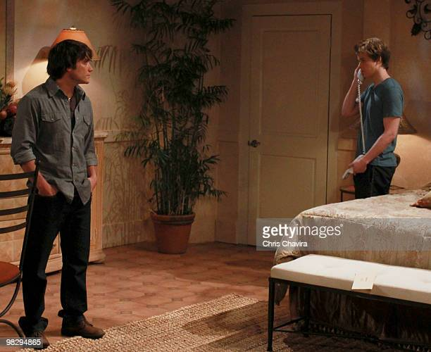 HOSPITAL Dominic Zamprogna and Chad Duell in a scene that airs the week of April 19 2010 on Walt Disney Television via Getty Images Daytime's General...