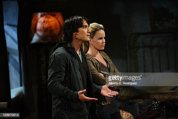 Dominic Zamprogna and Julie Berman in a scene that airs the week of September 27th on ABC's GENERAL HOSPITAL .
