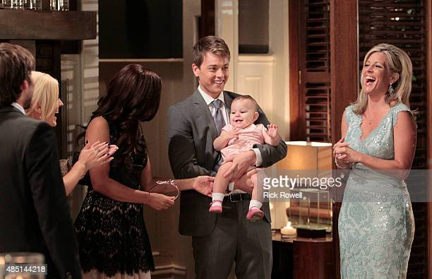 HOSPITAL Dominic Zamprogna Emme Rylan Teresa Castillo Chad Duell Ava/Grace Scarola and Laura Wright in a scene that airs the week of September 7 2015...