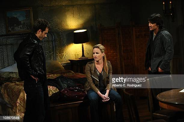 Dominic Zamprogna Julie Berman and Jonathan Jackson in a scene that airs the week of September 27th on ABC's GENERAL HOSPITAL