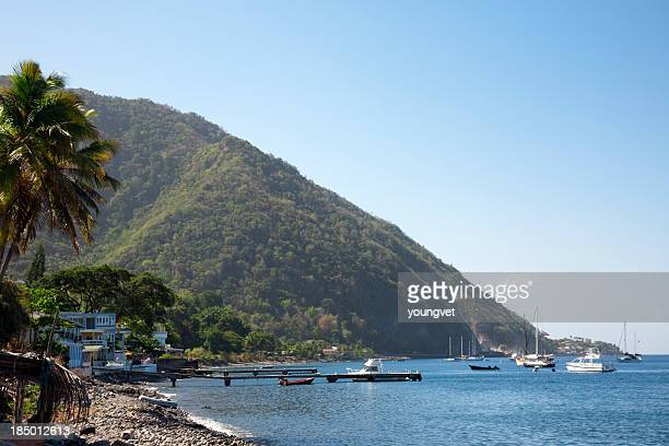 dominica coast near roseau - dominica stock pictures, royalty-free photos & images