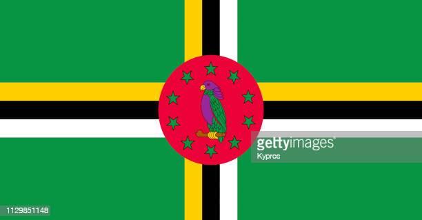 dominica flag - dominica fotografías e imágenes de stock