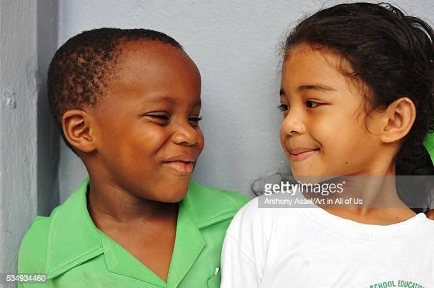 Dominica Roseau Preschool Social Center portrait of young girl and boy