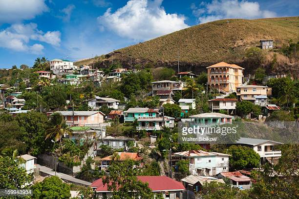 dominica, st. joseph, town view - dominica fotografías e imágenes de stock