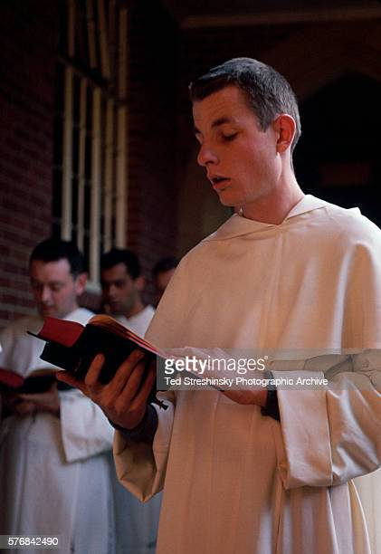 Dominican Monk Sings Hymns on Christmas
