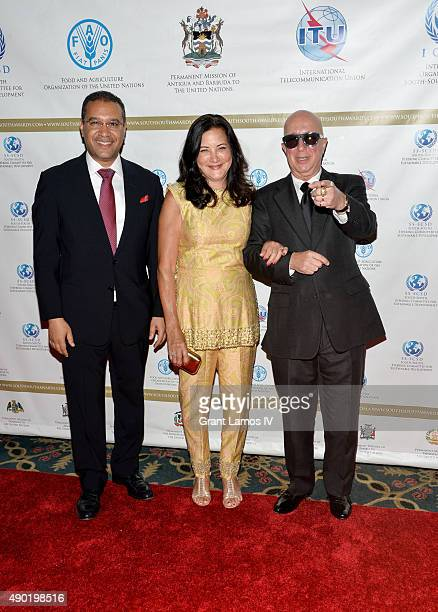 Dominican Republic Ambassador Francis Lorenzo Cathy Vasapoli and Paul Shaffer attend the 2015 SouthSouth Awards at The Waldorf=Astoria on September...